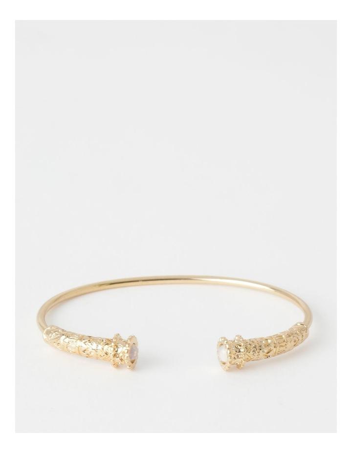 Round Stone Cuff Bracelet image 1