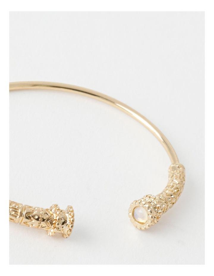 Round Stone Cuff Bracelet image 2