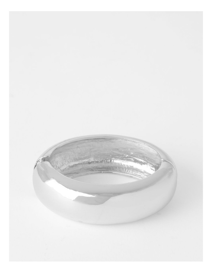 Smooth Wide Silver Bangle Bracelet image 1