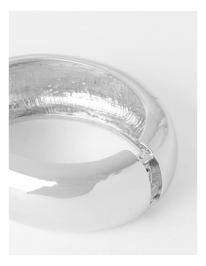 Smooth Wide Silver Bangle Bracelet image 2