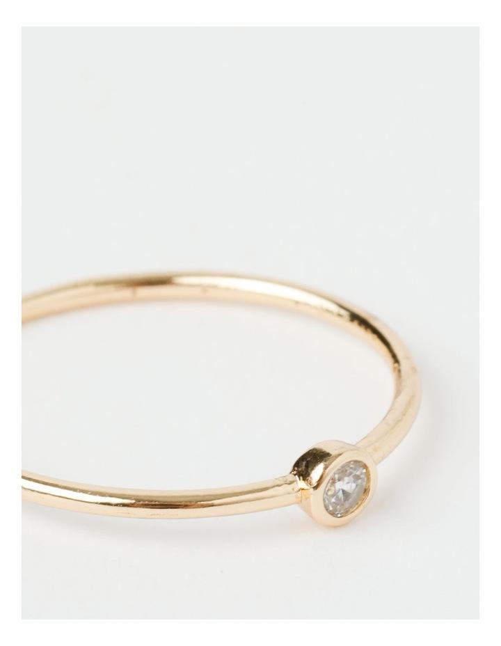 Single Stone Fine Gold Ring image 2