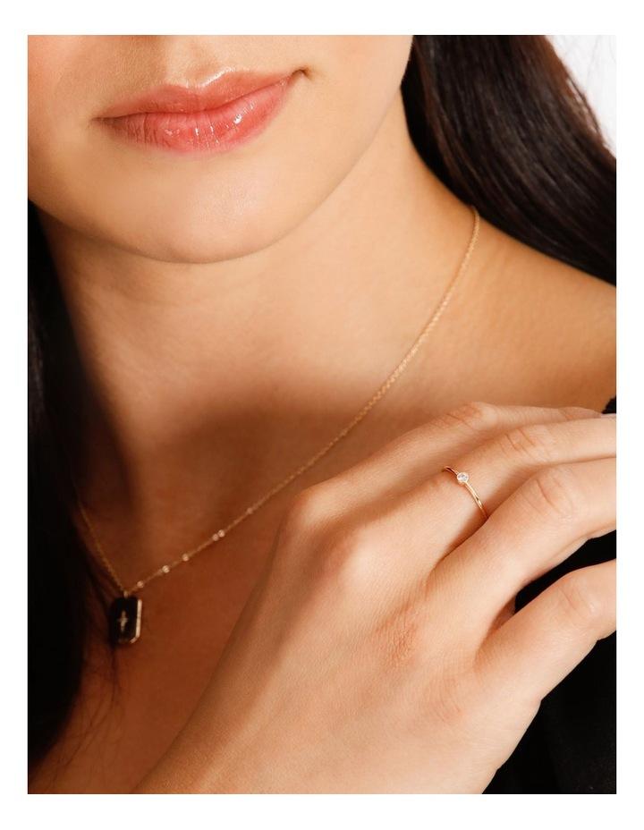 Single Stone Fine Gold Ring image 3