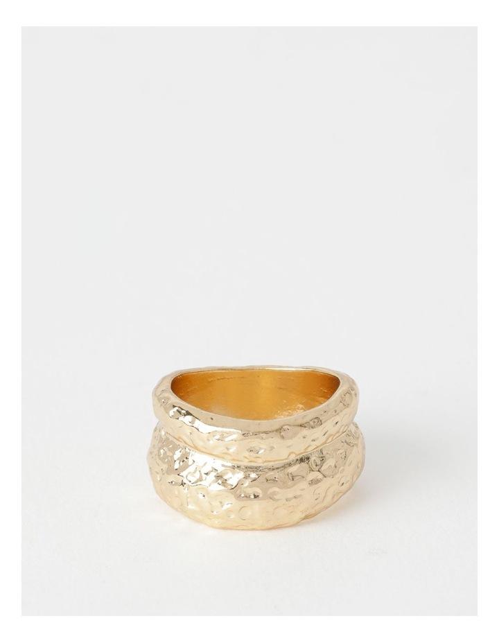 Organic Shaped Gold Ring image 1
