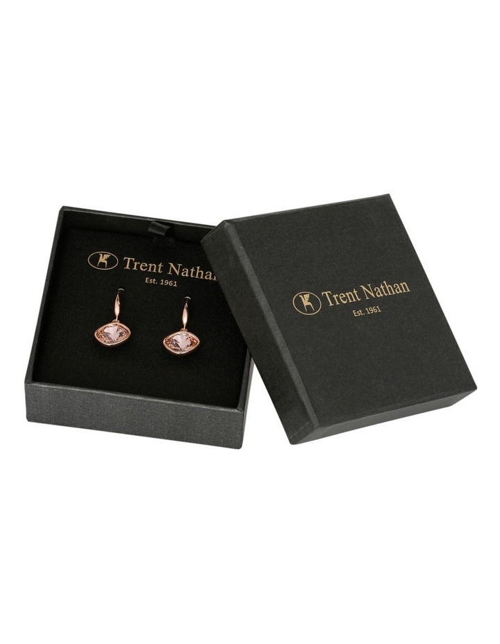 Drop Stoneset Earring Rose Gold With Vintage Rose image 1