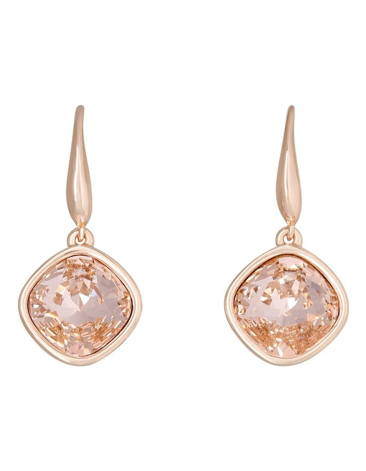 Drop Stoneset Earring Rose Gold With Vintage Rose image 2