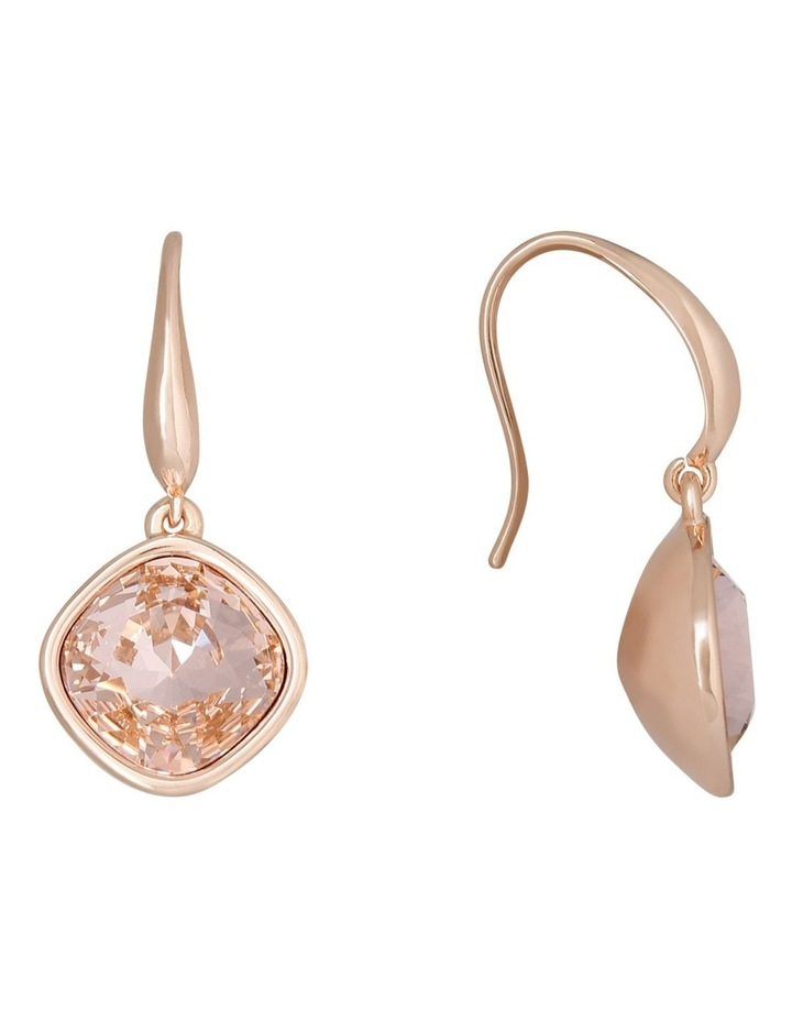 Drop Stoneset Earring Rose Gold With Vintage Rose image 3