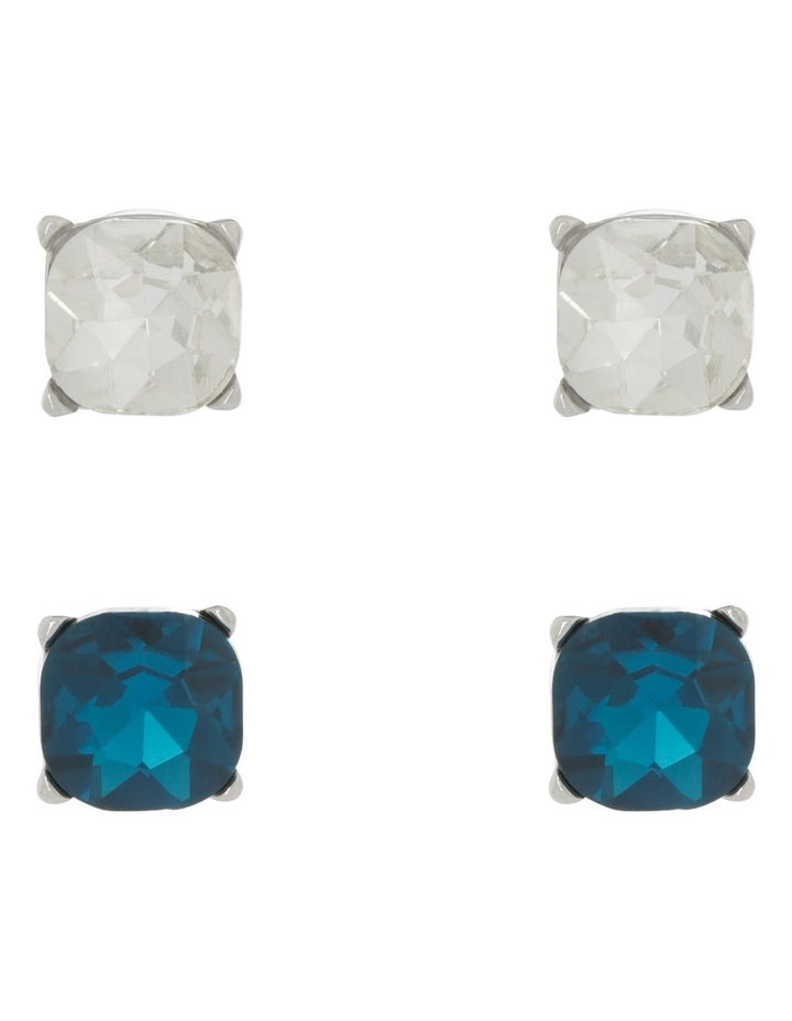 Large Crystal Stud Pack Blue Zircon/Clear image 1