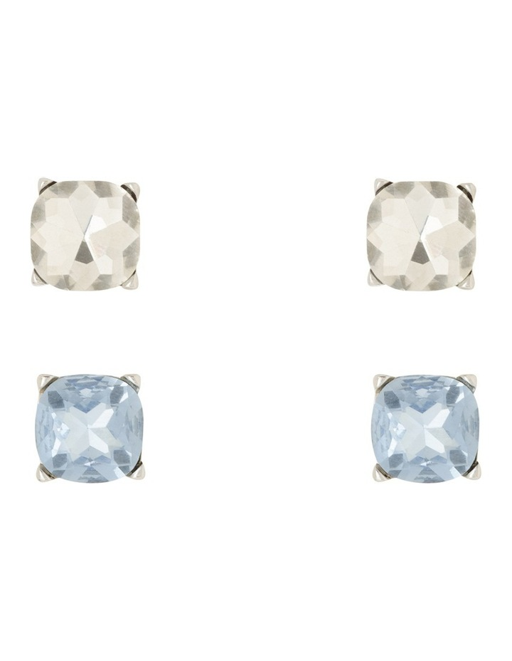 Large Crystal Stud Pack Blue And Clear image 3