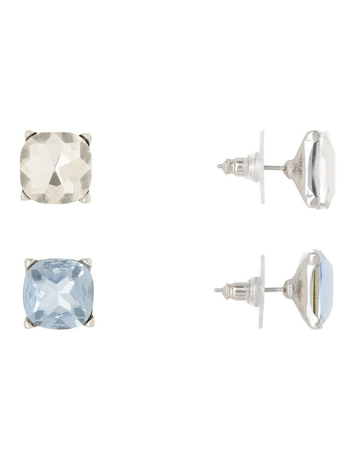 Large Crystal Stud Pack Blue And Clear image 2