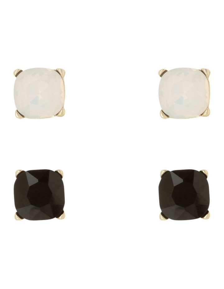 Large Crystal Stud Pack Black And Opal image 3