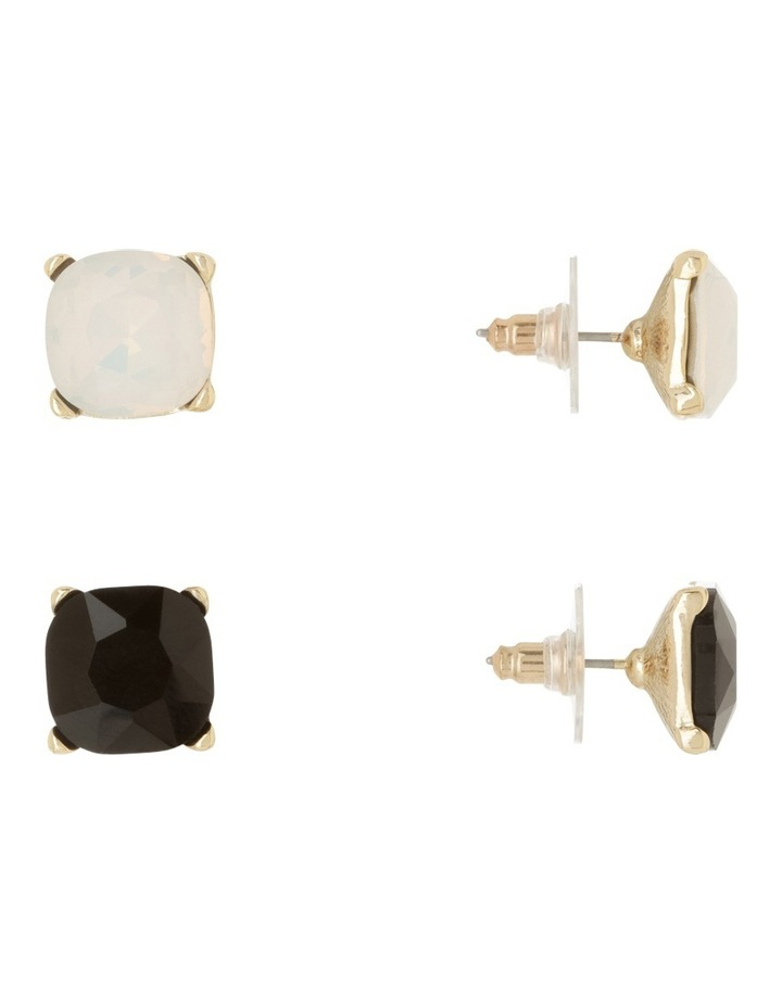 Large Crystal Stud Pack Black And Opal image 2