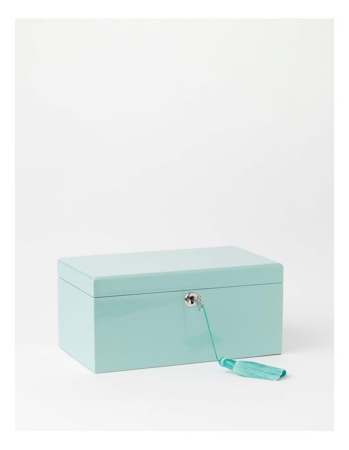 High Gloss Tassel Key Mint Jewellery Box image 1