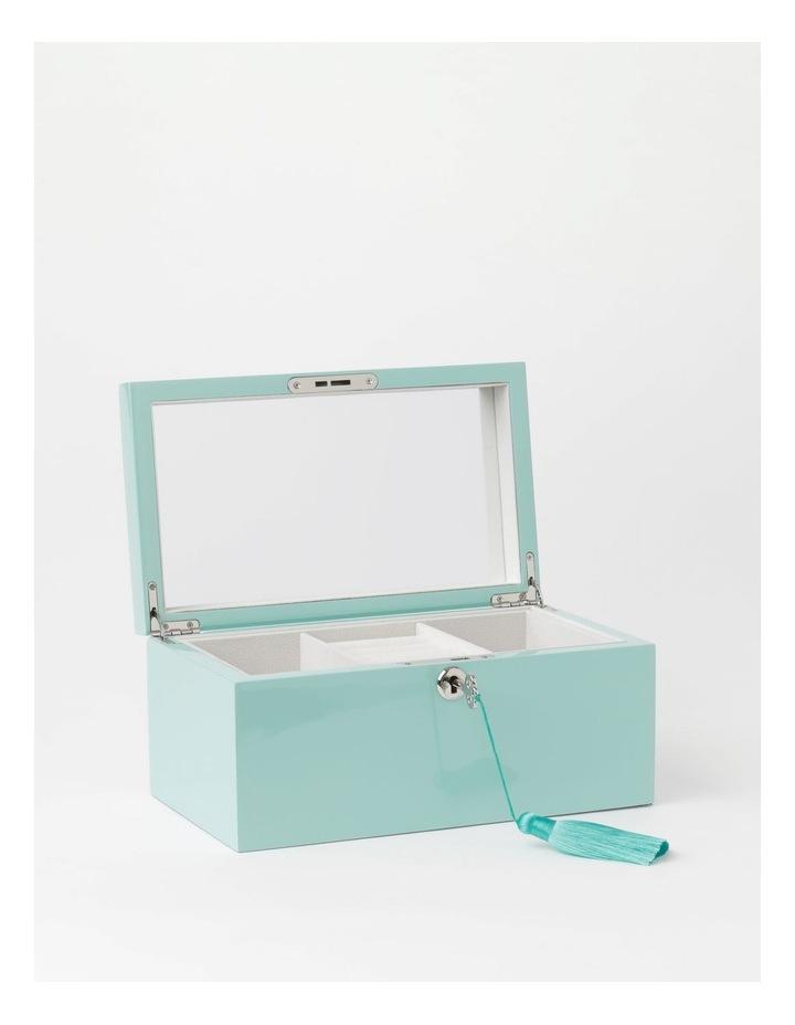 High Gloss Tassel Key Mint Jewellery Box image 2