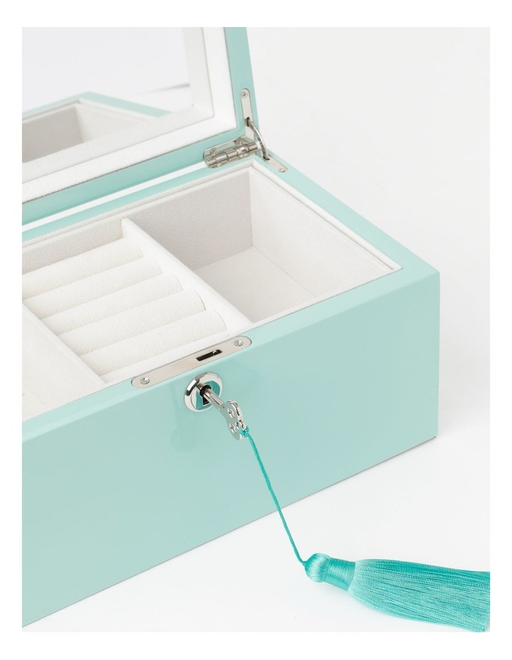 High Gloss Tassel Key Mint Jewellery Box image 3