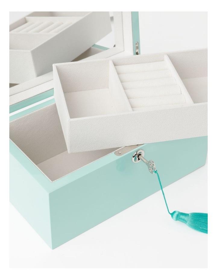 High Gloss Tassel Key Mint Jewellery Box image 4
