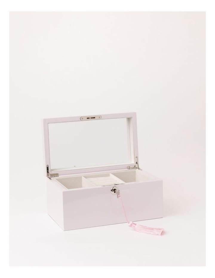 High Gloss Tassel Key Light Pink Jewellery Box image 2