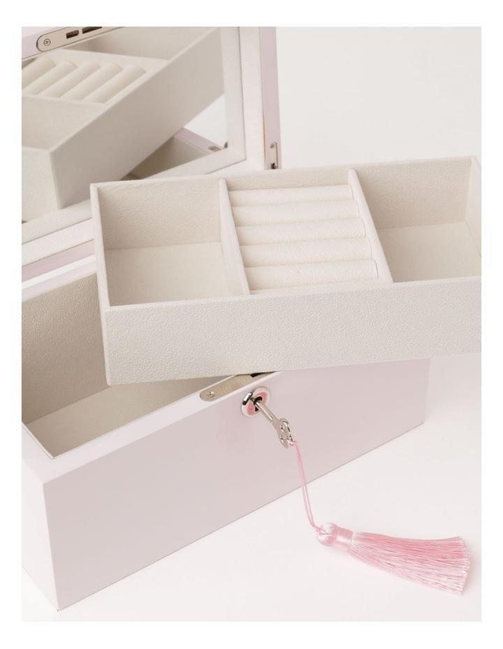 High Gloss Tassel Key Light Pink Jewellery Box image 4