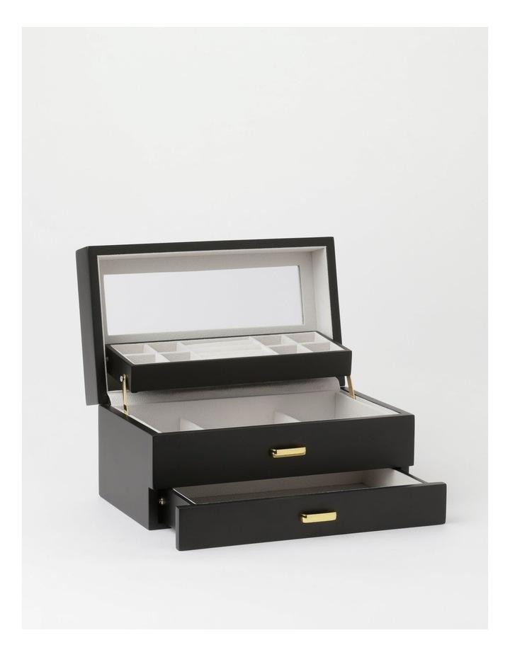 Multi Drawer Black Jewellery Box image 2