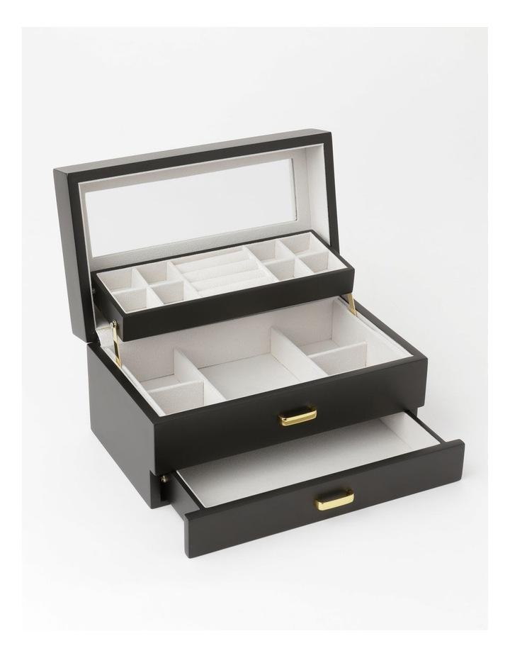 Multi Drawer Black Jewellery Box image 3