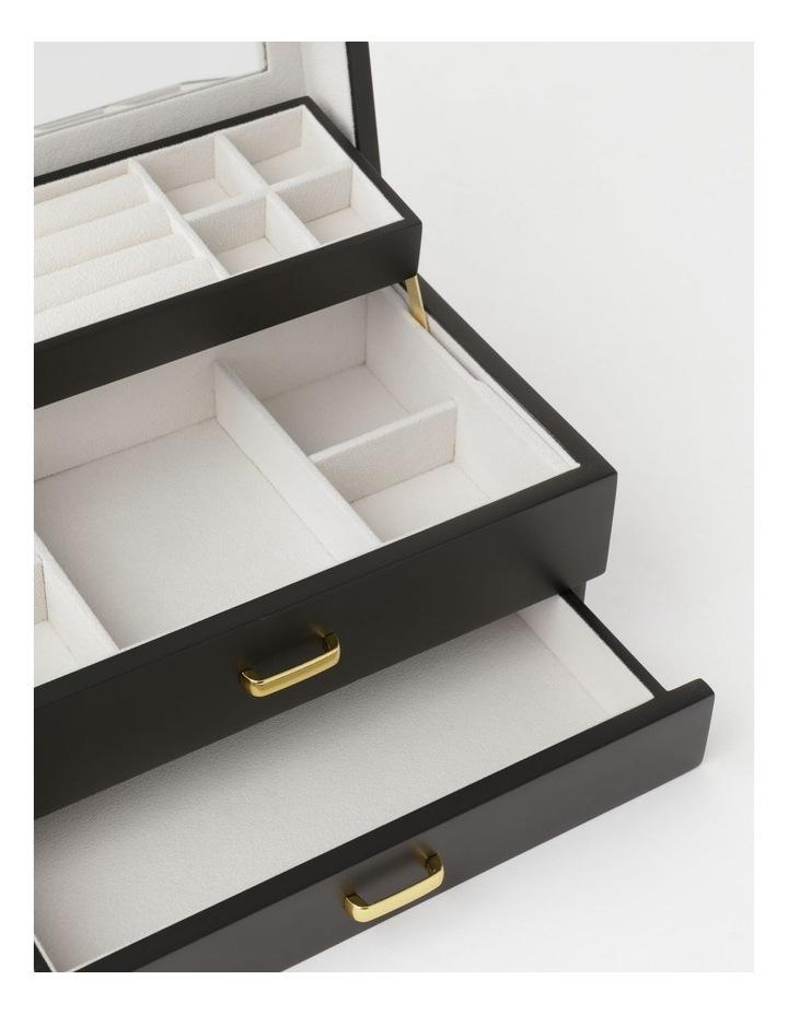 Multi Drawer Black Jewellery Box image 4