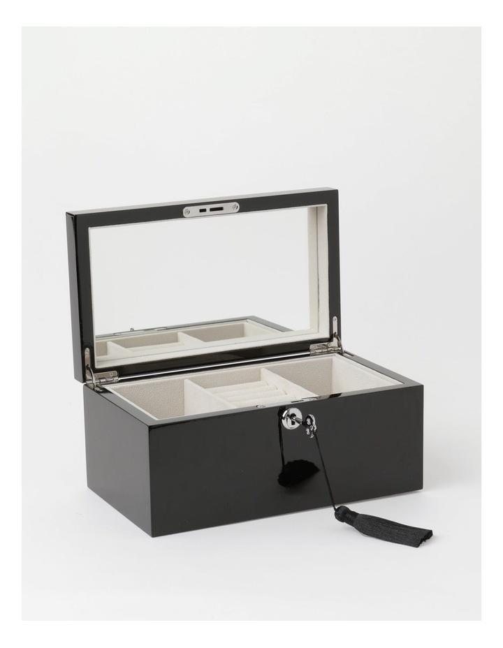 High Gloss Tassel Key Black Jewellery Box image 2