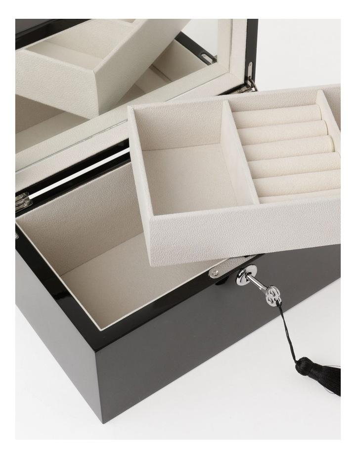 High Gloss Tassel Key Black Jewellery Box image 4