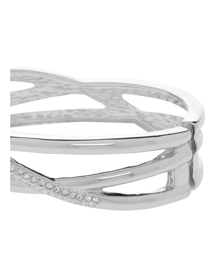 Webbed Crystal Hinged Bangle image 2