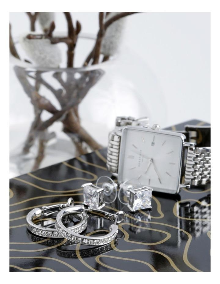 Crystal Hoop and Box Stud Earrings image 4