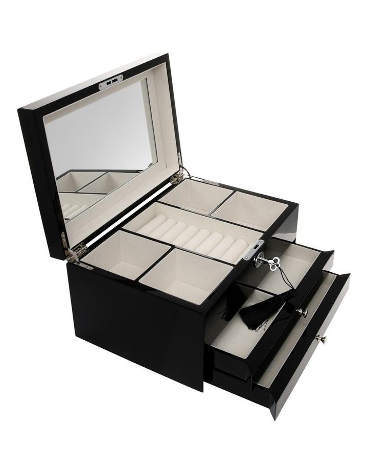 Multi Drawer High Gloss Black Jewellery Box image 2
