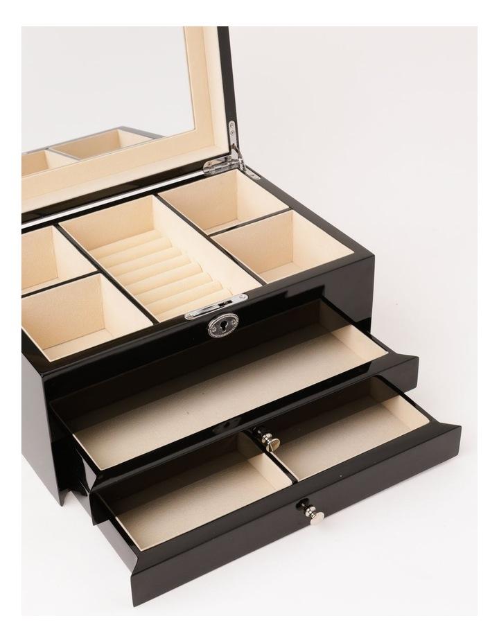Multi Drawer High Gloss Black Jewellery Box image 4