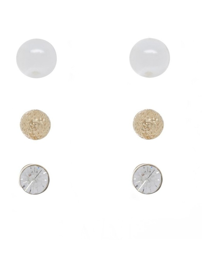 Pearl Studs in Gift Box - 3 Pack image 1