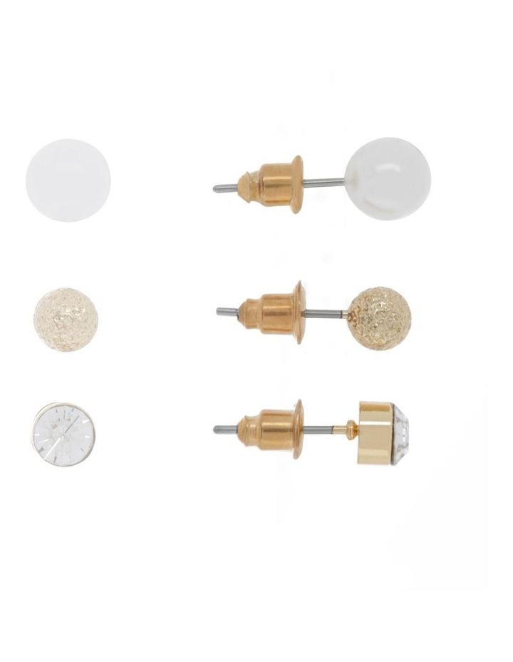 Pearl Studs in Gift Box - 3 Pack image 2