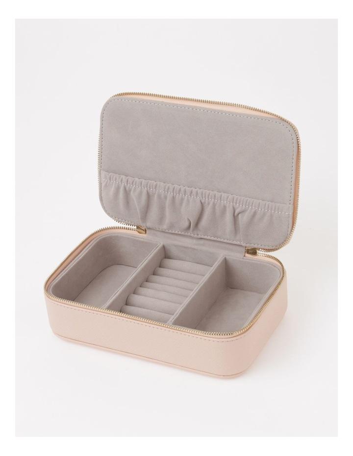Large Zip Around Travel Blush Jewellery Box image 2