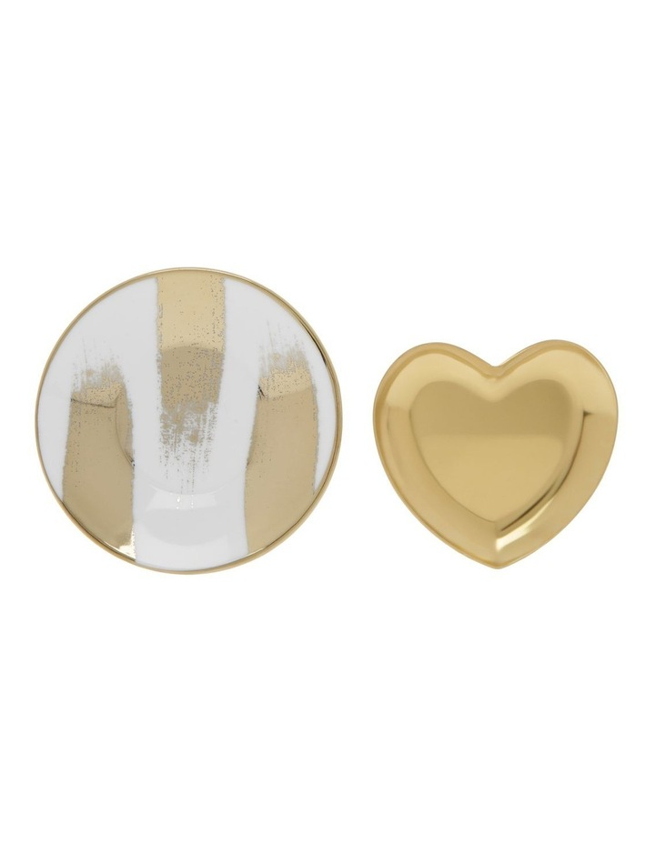 2 Pack Heart and Plate Jewellery Holders image 1