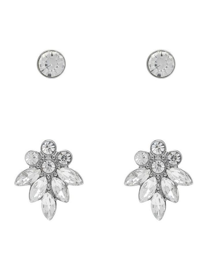 Crystal Cluster Earring Stud Set image 1