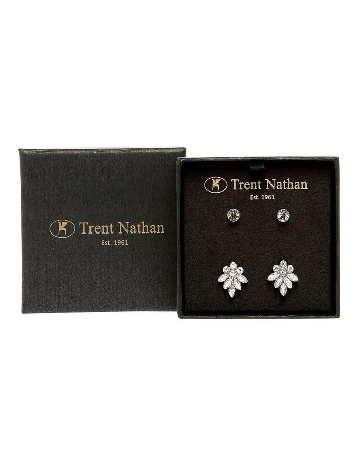 Crystal Cluster Earring Stud Set image 3
