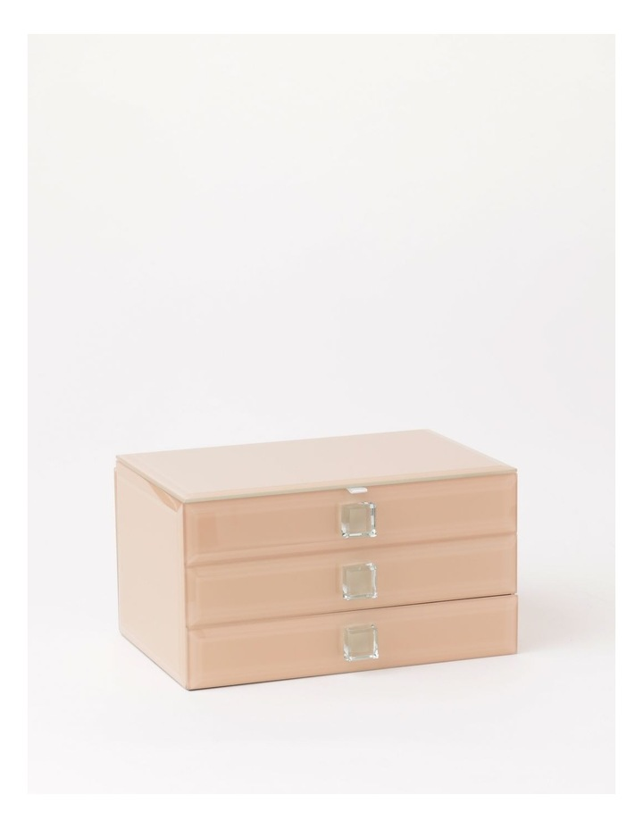 Glass Covered Multi Drawer Jewellery Box image 1