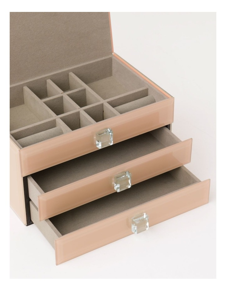 Glass Covered Multi Drawer Jewellery Box image 3