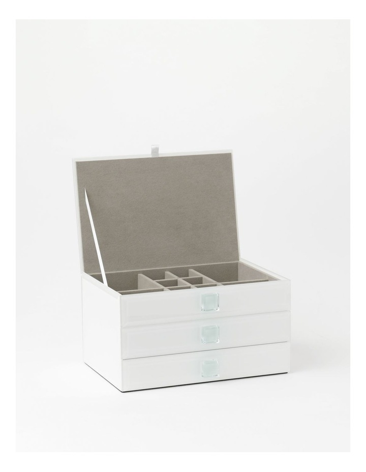 Glass Covered Multi Drawer Jewellery Box image 2