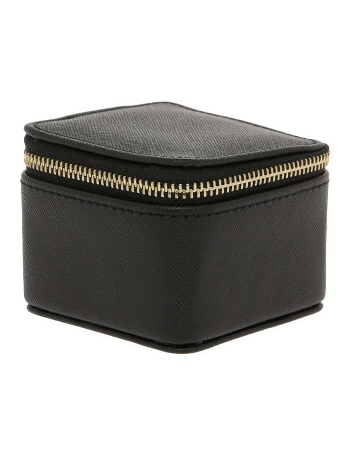 Small Square Jewellery Box in Black image 2