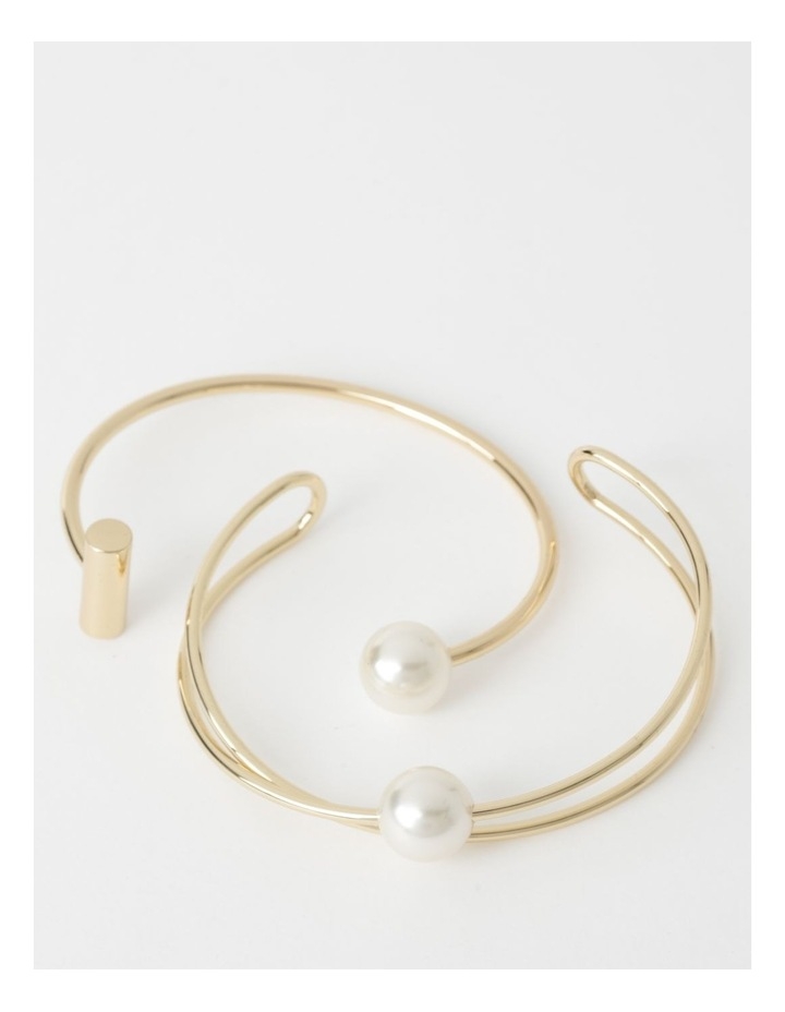 Bangle Set With Faux Pearl image 1