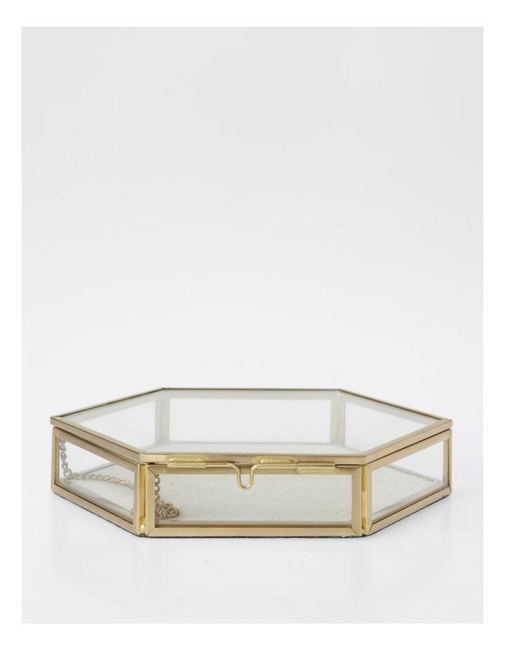Small Glass Hexagon Jewellery Box image 1