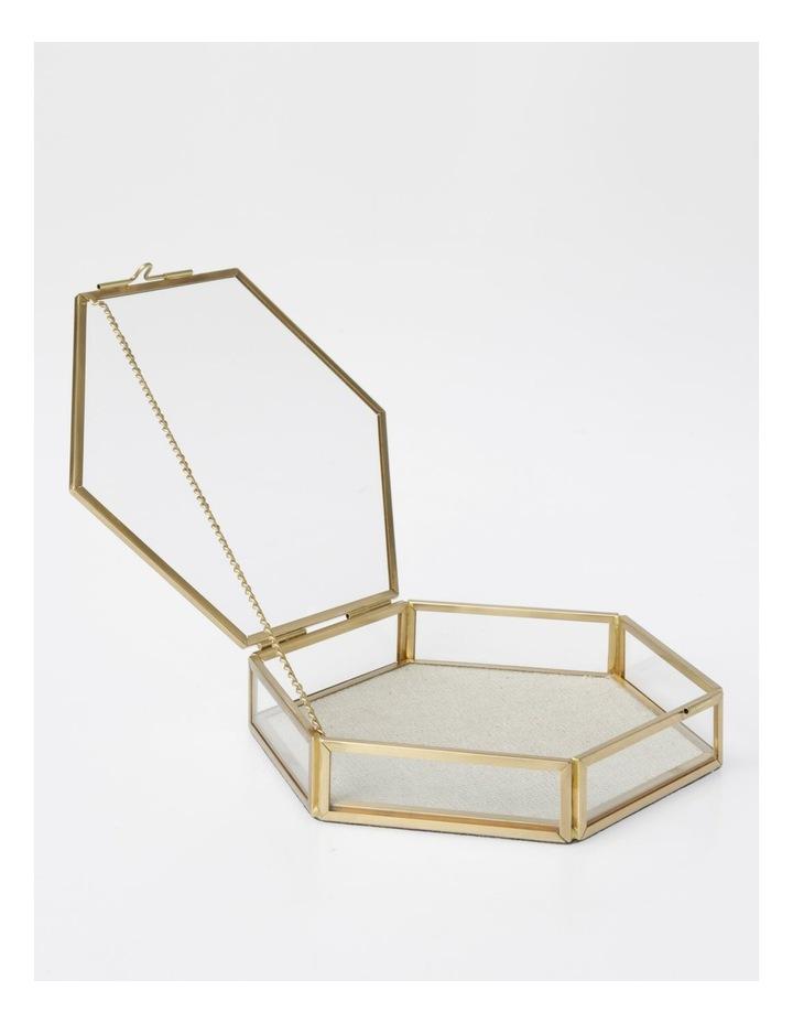 Small Glass Hexagon Jewellery Box image 2