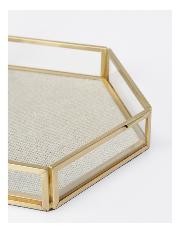 Small Glass Hexagon Jewellery Box image 3