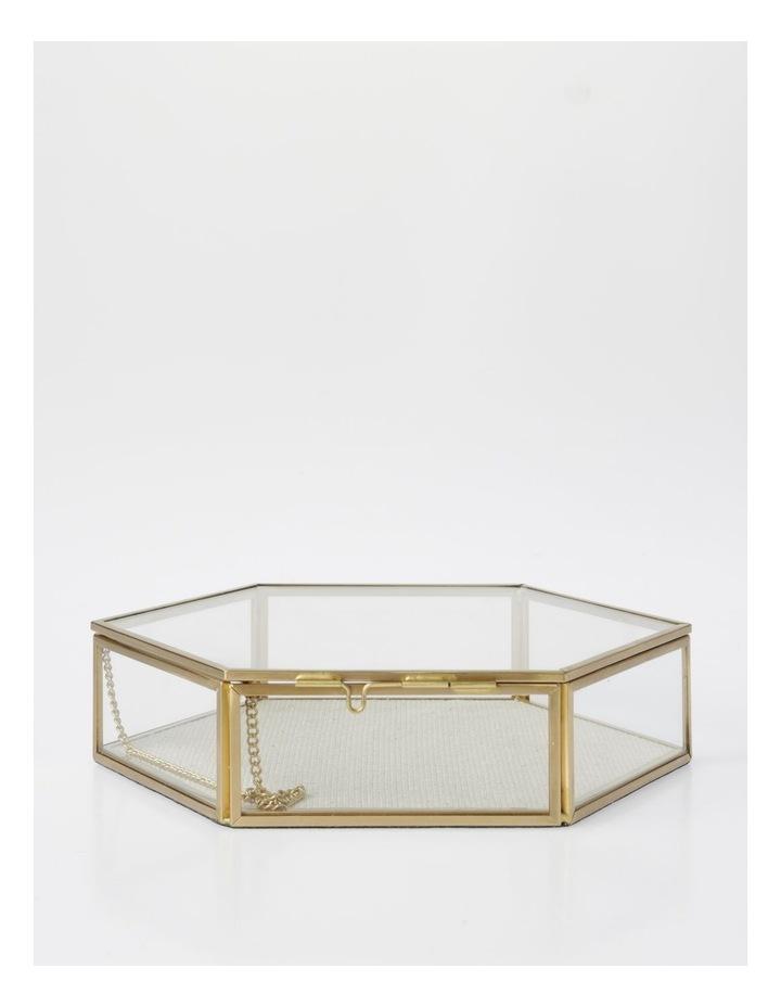 Large Glass Hexagon Jewellery Box image 1