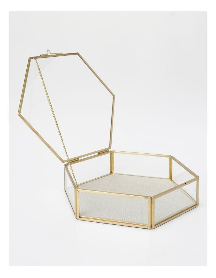 Large Glass Hexagon Jewellery Box image 2