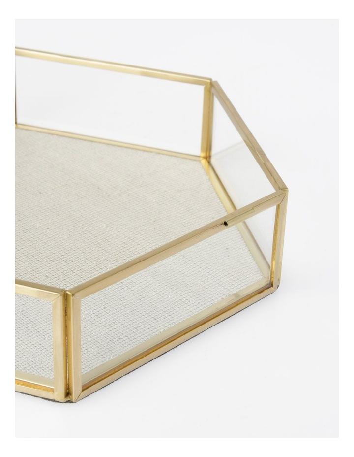 Large Glass Hexagon Jewellery Box image 3