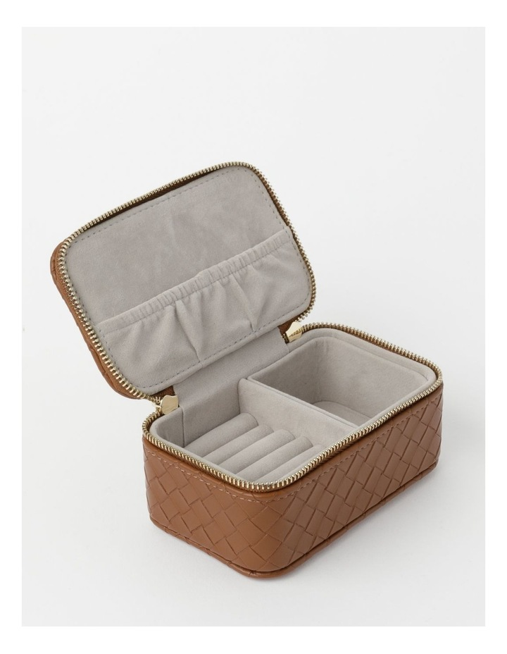 Small Brown Woven Brown Jewellery Box image 1