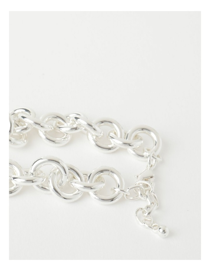 Circle Link Silver Plated Bracelet image 2