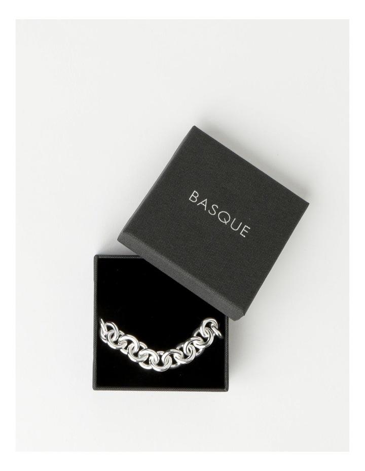 Circle Link Silver Plated Bracelet image 3